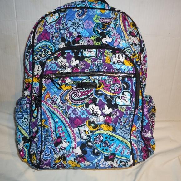 f1a830af8ce Bags   Vera Bradley Campus Backpack Disney Celebration   Poshmark